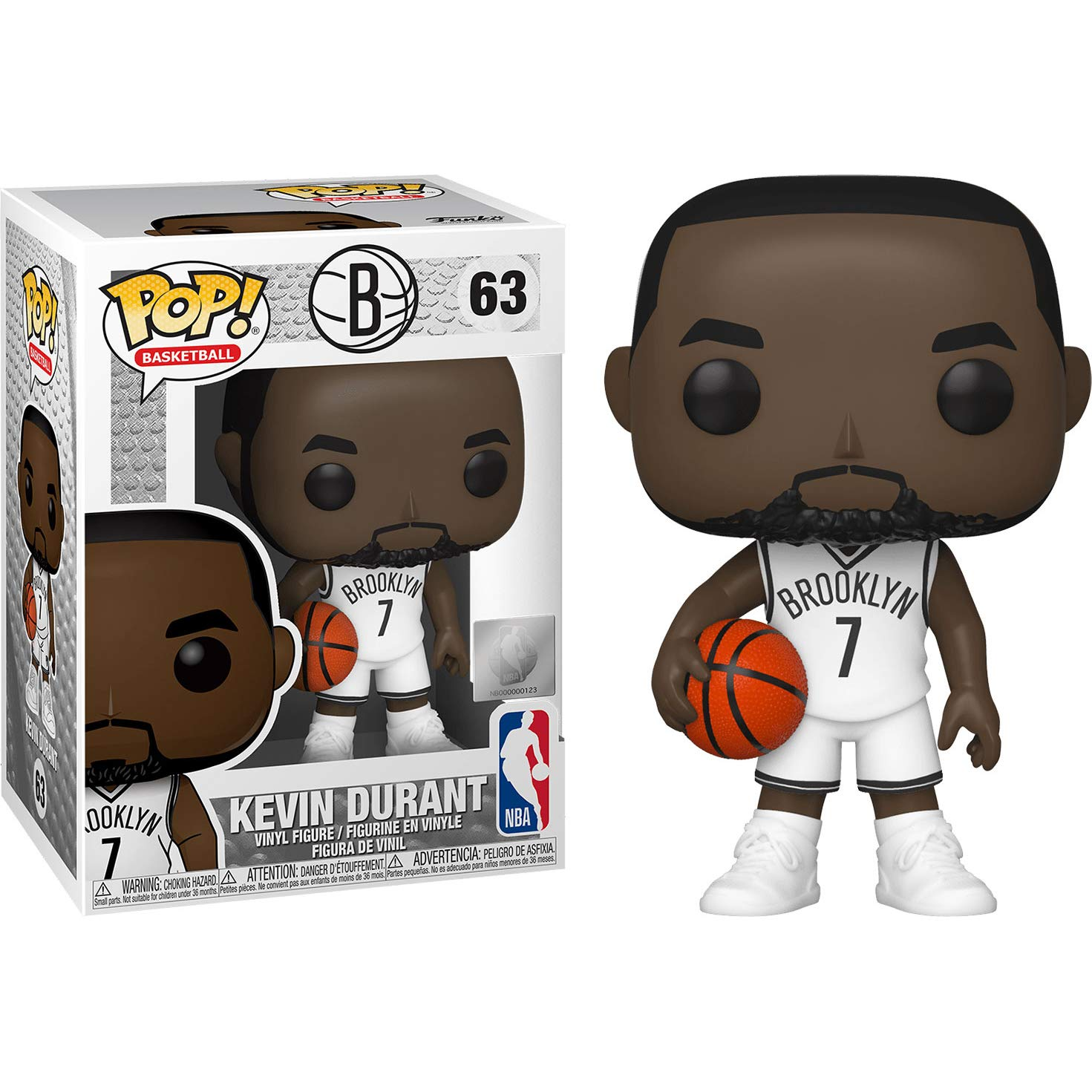 Nets Kevin Durant : Funko Pop Basketball Vinyl Figure Bundle with 1 Compatible ToysDiva Graphic Protector 063-46537 - B