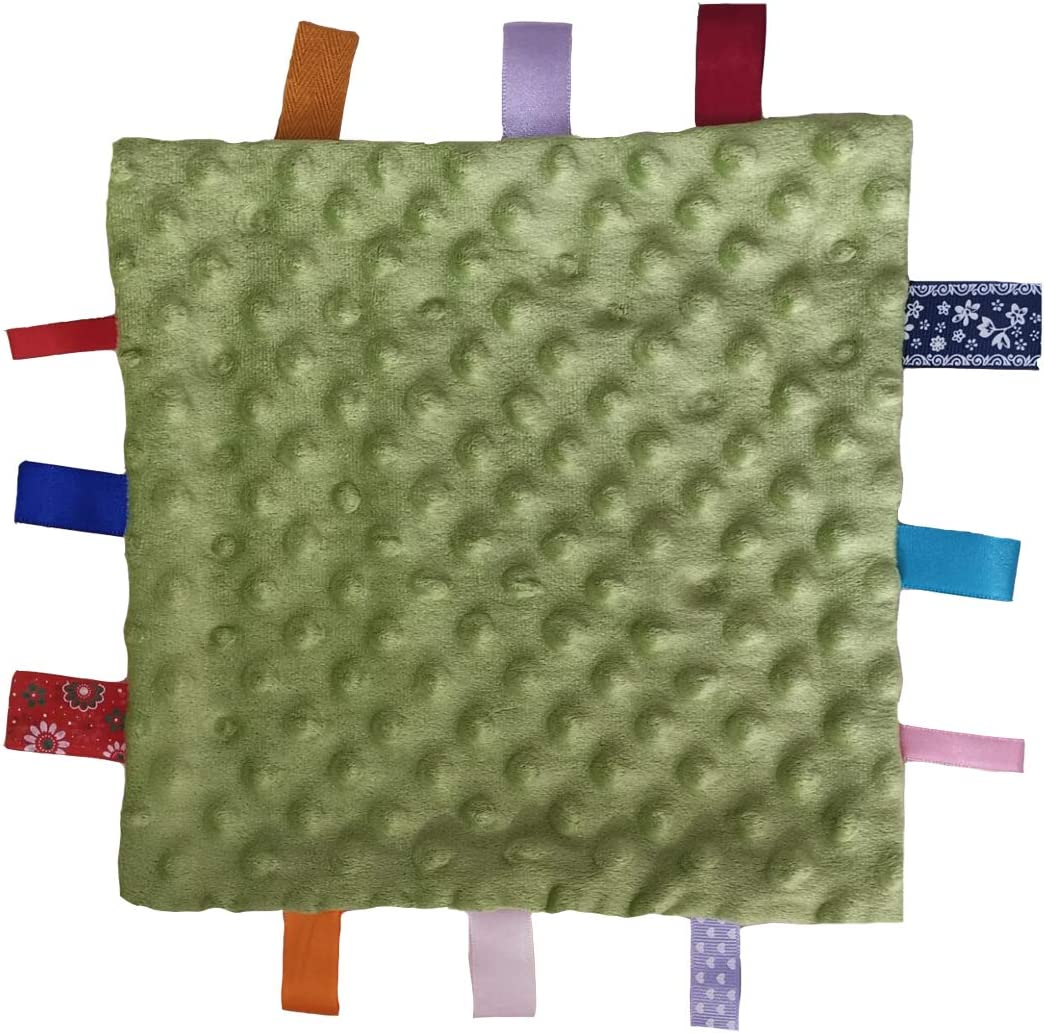 Super Soft Blanket Blanket Toy con etiquetas Taggie Blanket Best Gift for Child Toddler Kid Baby Boy Blue Tag Security Blanket Taggy Comforter