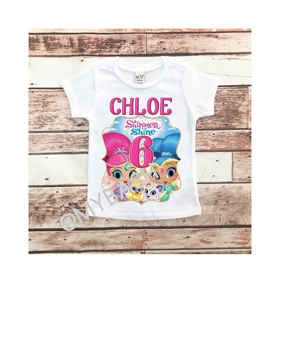 SHIMMER and SHINE Custom T-shirt Birthday PERSONALIZE ADD Name /& Age