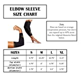 CopperSport Copper Compression Elbow Sleeve Support - Suitable for Athletics, Tennis, Golf, Basketball, Sports, Weightlifting, Joint Pain Relief, Injury Recovery (Single Sleeve), Black, X-Large