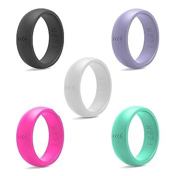 Amazoncom Silicone Wedding Ring for Women Rubber Wedding Band