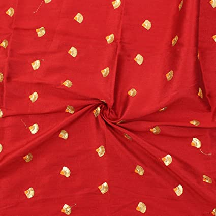 Amazon Com Shopolics Red And Golden Small Floral Design Silk