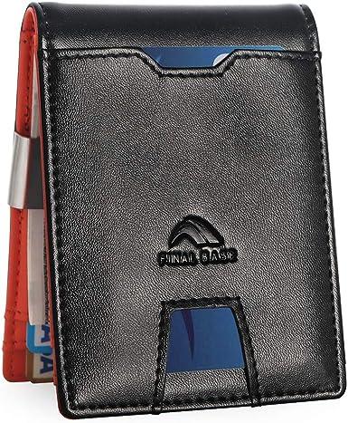 Fashion Sale Men/'s Luxury Soft  Black Leather Credit Card Holder Wallet  FS