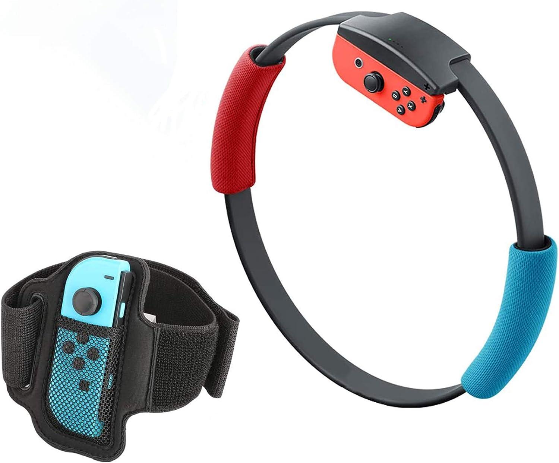 MoKo Mango y Correa para la Pierna Compatible con Ring Fit Adventure Nintendo Switch Joy-con Ring-con, Brazalete de Control Elástica Ajustable de Reemplazo para Juego de Ring Fit Adventure de Switch: Amazon.es:
