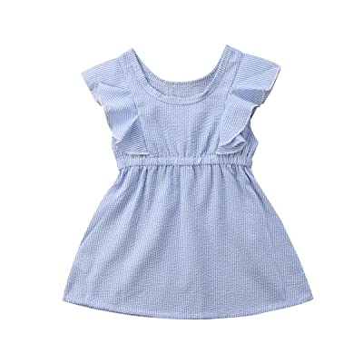Hopiumy Newborn Princess Baby Kid Girl Dresses Party Sleeveless