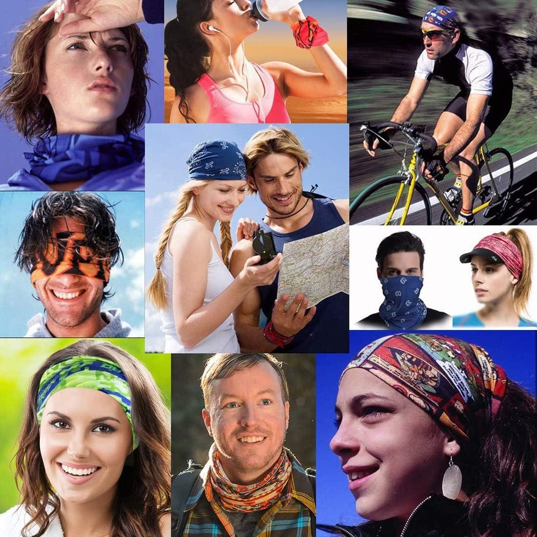 Rpanle Bandeau sans Coutures Multifonctionnel Headwear Bandana Bandeau /élastique Magic Bandeau Balaclava UV Residence pour Yoga Running Randonn/ée Cyclisme