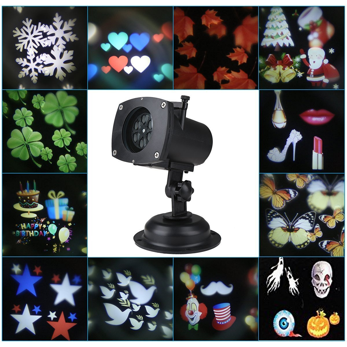 Blusmart Projection Lamp Waterproof Motion Projector LED Light ...