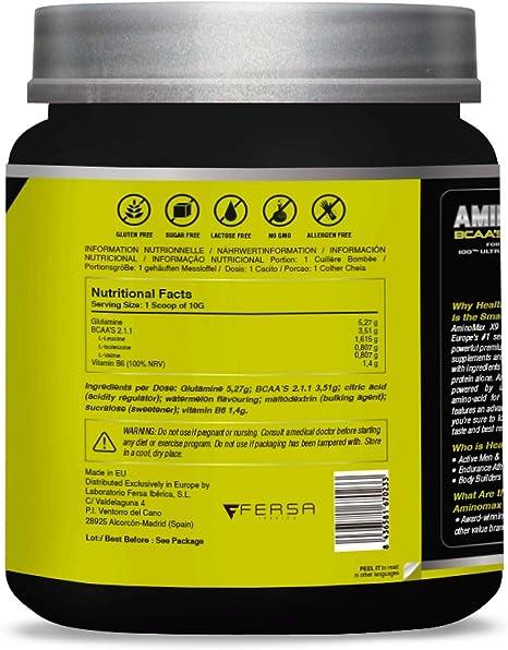 Aminoácidos ramificados BCAA 100% puros   Aminoácidos esenciales   Con BCAA´S + glutamina + vitamina B6   Aumenta tu masa muscular y obtén una rápida ...