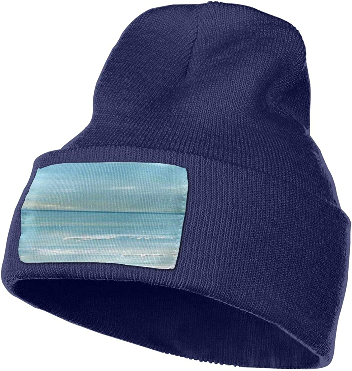 ONHIM Watercolor Painting Seaside Mens Womens Stretchy Knitting Beanie Hat Slouchy Jogging Cap