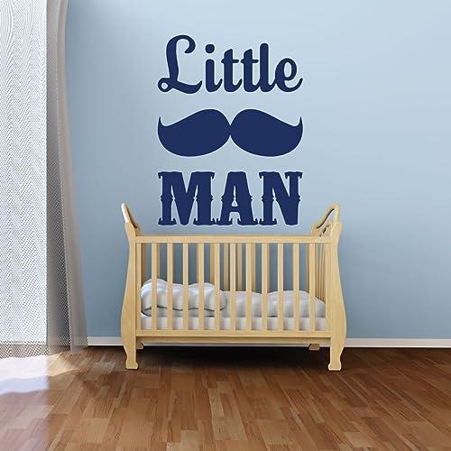 amazon com nursery wall decal little man mustache vinyl wall