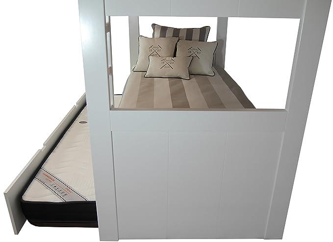 Etagenbett Drei Schlafplätzen : Amazon.de: sueñomueble u2013 etagenbett 3 schlafplätze mdf 4 cm