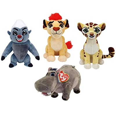 Ty Lion Guard Beanie Babies Plush - 4 Piece Set (Kion, Fuli, Bunga and Beshte!): Toys & Games