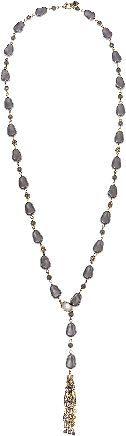 Laundry by Shelli Segal Pearl Lariat Chain Y Necklace