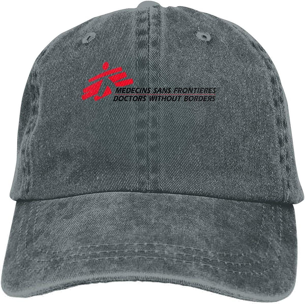 DIY Medecins-Sans-Frontieres-Doctors-Without-Borders Custom Fashion Baseball Hatblack