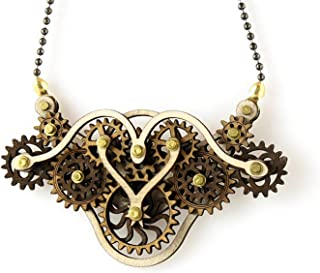 product image for Green Tree Jewelry Kinetic Winged Gear Pendant 4H