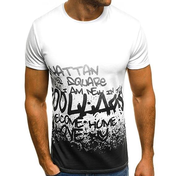 Kinlene Camiseta Hombre, Camuflaje Impresión tee Cuello Redondo Tops Camisa Manga Corta Ropa Hombre Deportiva Blusa: Amazon.es: Ropa y accesorios