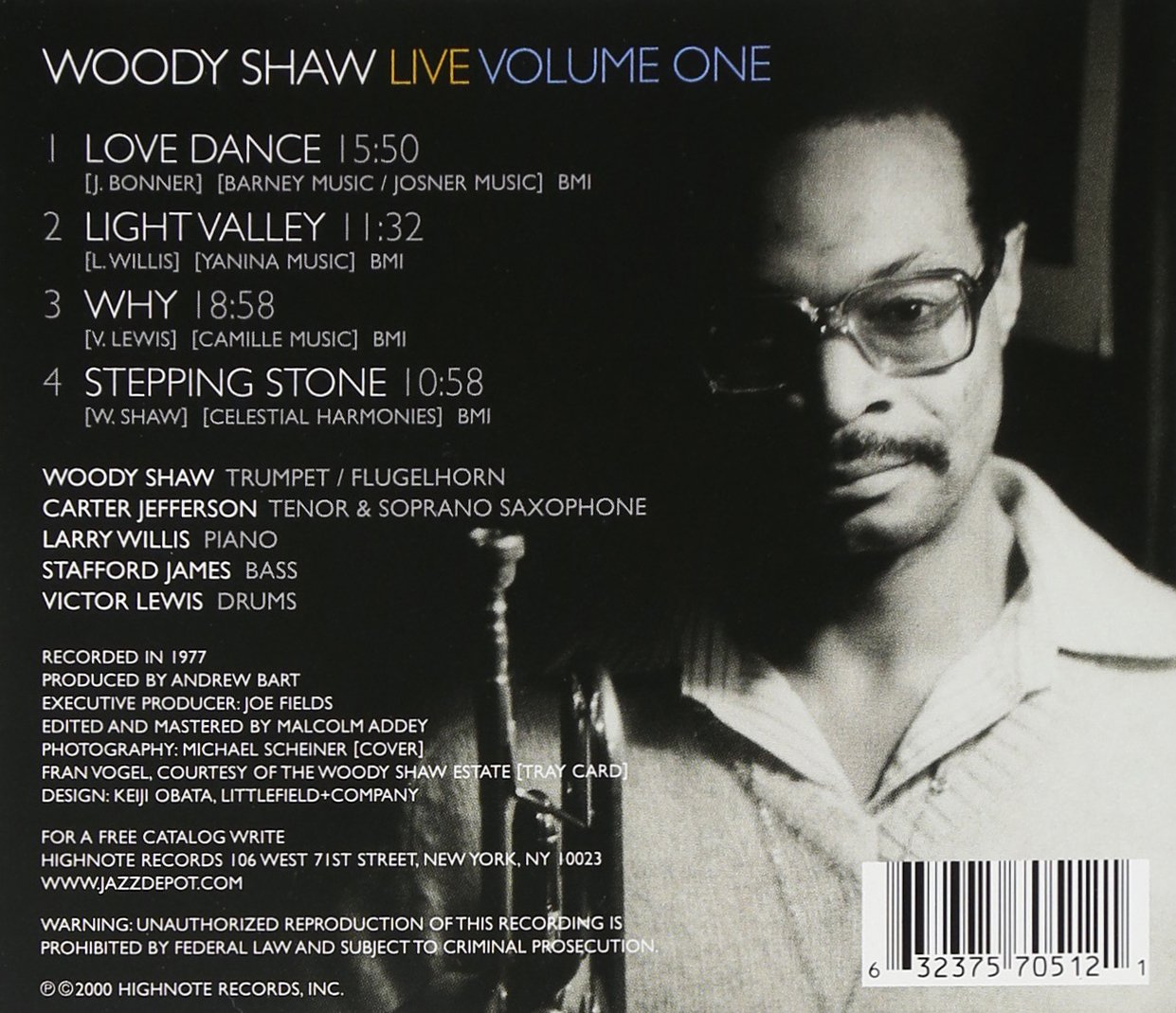 Woody Shaw Live, Volume One by HIGHNOTE