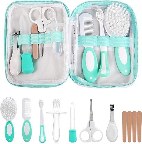 LinStyle Set para Cuidado del Bebé, 8 Piezas Kit de Aseo para Bebés, Kit Cuidado Higiénico Personal para el Hogar y de Viaje, Ideal para Recién Nacido, Niña y Niño: Amazon.es: Bebé