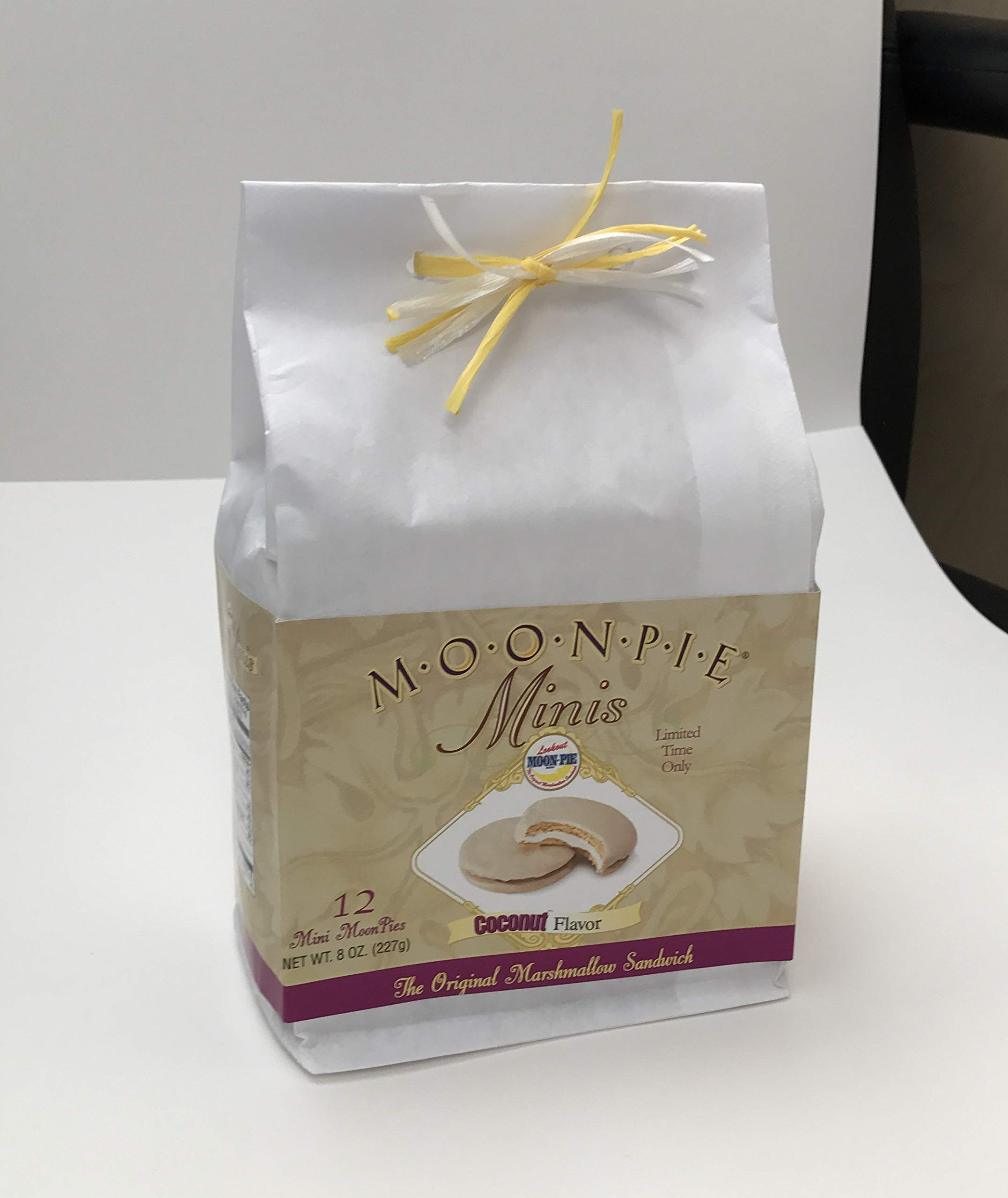 Limited Edition Official Coconut Mini MoonPie Packs (12 Count White Gift Bag)
