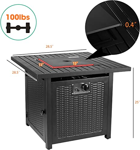 HEMBOR 28″ Propane Gas Fire Pit Table