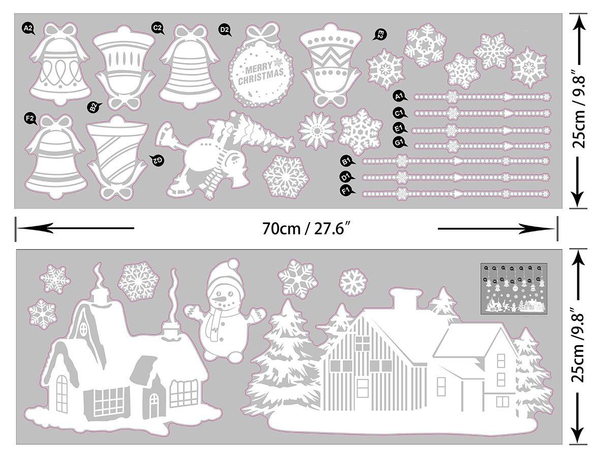 heekpek Navidad Santa Claus /árbol de Navidad Sal/ón Dormitorio Escaparate Extra/íble Pegatinas de Pared Murales