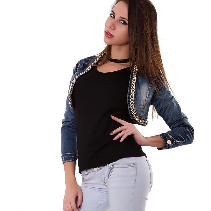 new product deeb6 b266e Toocool - Giacca Jeans Donna Corta Giubbino Coprispalle ...