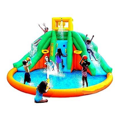 Amazon.com: Skroutz Kids Outdoor Water Twin Peaks Bouncer ...