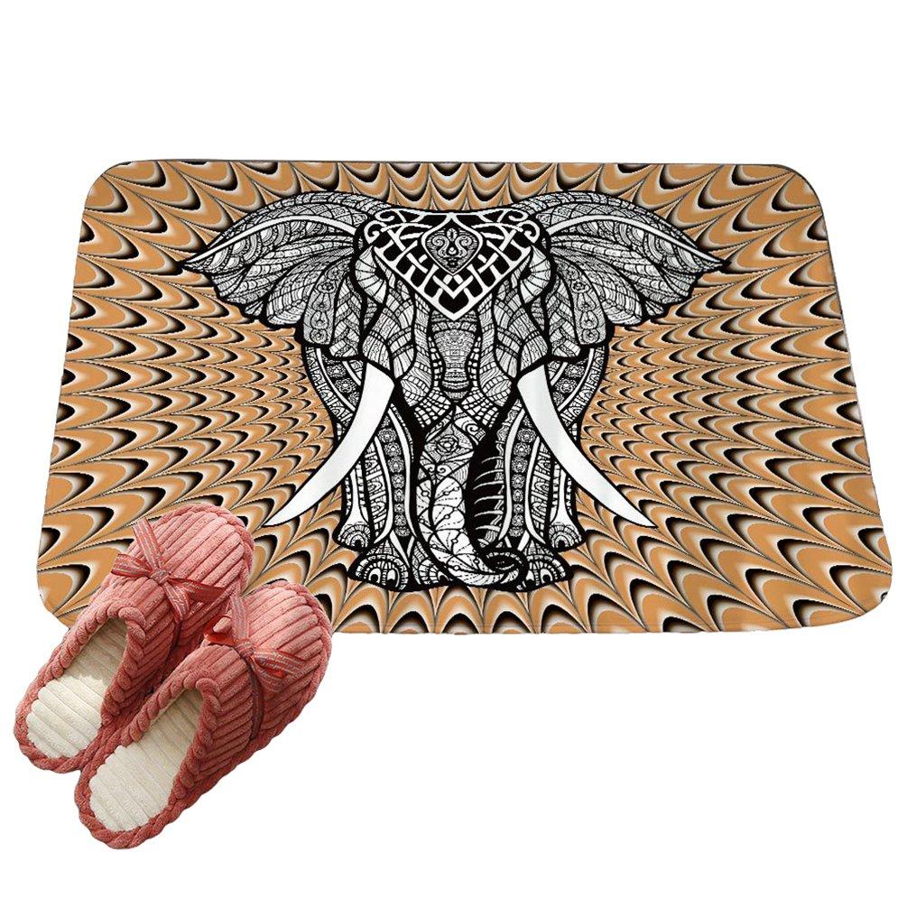 LvRaoo Fu/ßmatte Willkommen f/ür Haust/ür Innen und Aussen Fussmatten Rutschfest Schmutzfangmatte Fu/ßabtreter Fussabstreifer Mandala Elefant Drucke # 1, 60 * 40cm