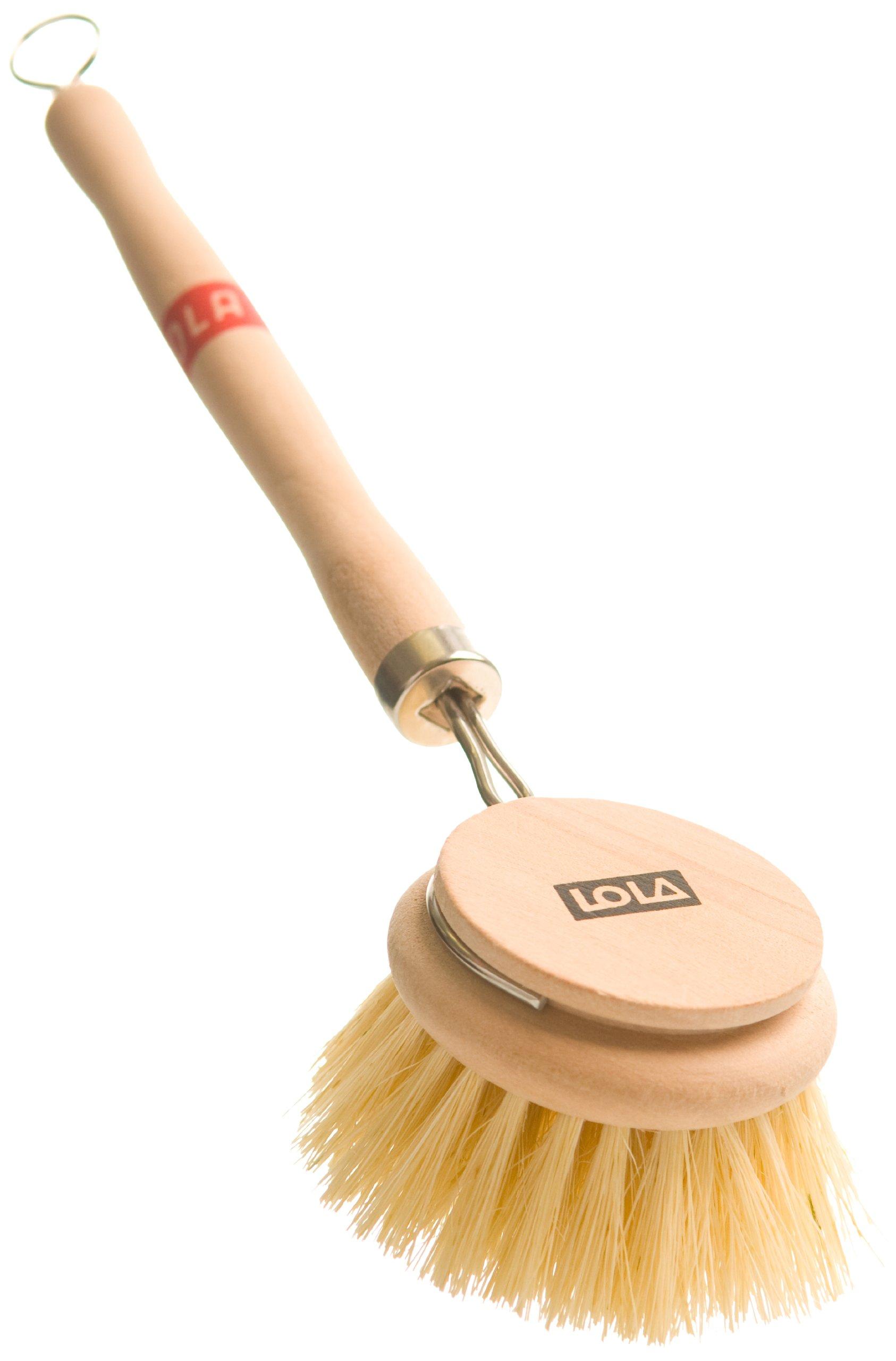 Lola 325 Large Tampico Bristle Wood Vegetable and Dish Brush, 6-Pack