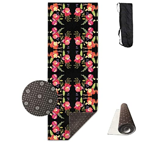 Amazon.com: GirlApron Premium Print Yoga Mat - Barcelona ...