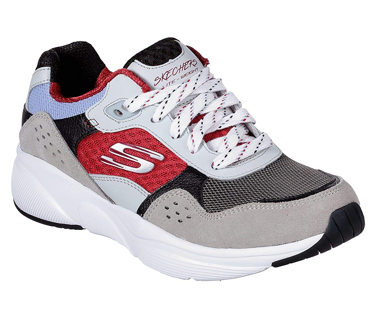 Grey Red Skechers Womens Meridian-charted Sneaker