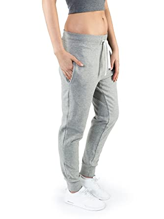 Casual Standard Jogginghose Damen grau Sweatpants Sporthose Trainingshose Jogger