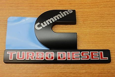 Dodge Ram 2500 3500 negro Cummins Turbo Diesel para placa emblema Mopar OEM