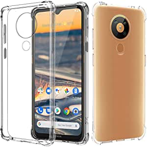 for Nokia 5.3 Heavy Duty Soft Gel Clear Transparent Shockproof TPU Thin Slim Case Cover
