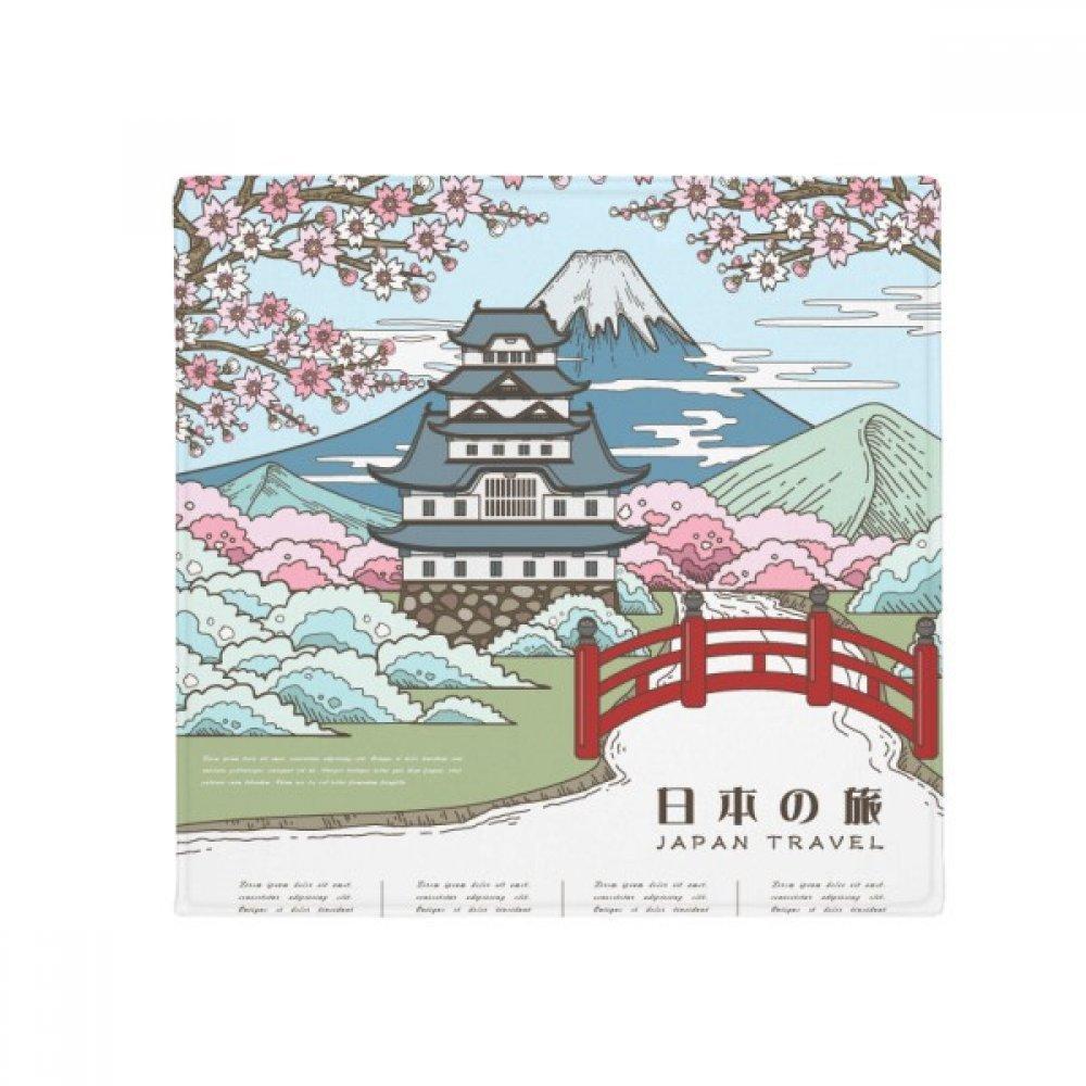 DIYthinker Mount Fuji Sakura Japan Ukiyo-E Anti-Slip Floor Pet Mat Square Home Kitchen Door 80Cm Gift