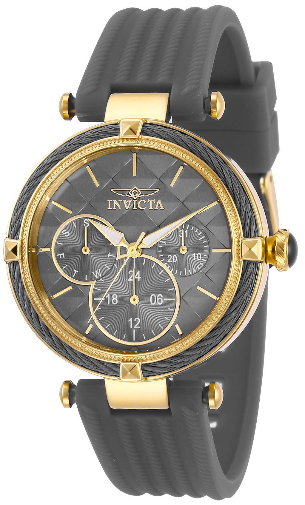 ویکالا · خرید  اصل اورجینال · خرید از آمازون · Invicta Women's Bolt Stainless Steel Quartz Polyurethane Strap, Grey, 18 Casual Watch (Model: 28967) wekala · ویکالا