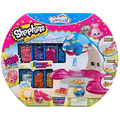 Beados Shopkins Exclusive Mega 1000 Bead Design Station: Beados: Toys & Games
