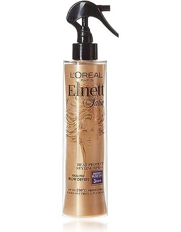 LOreal Elnett Satin, Espray protector contra el calor de secadora, 170 ml