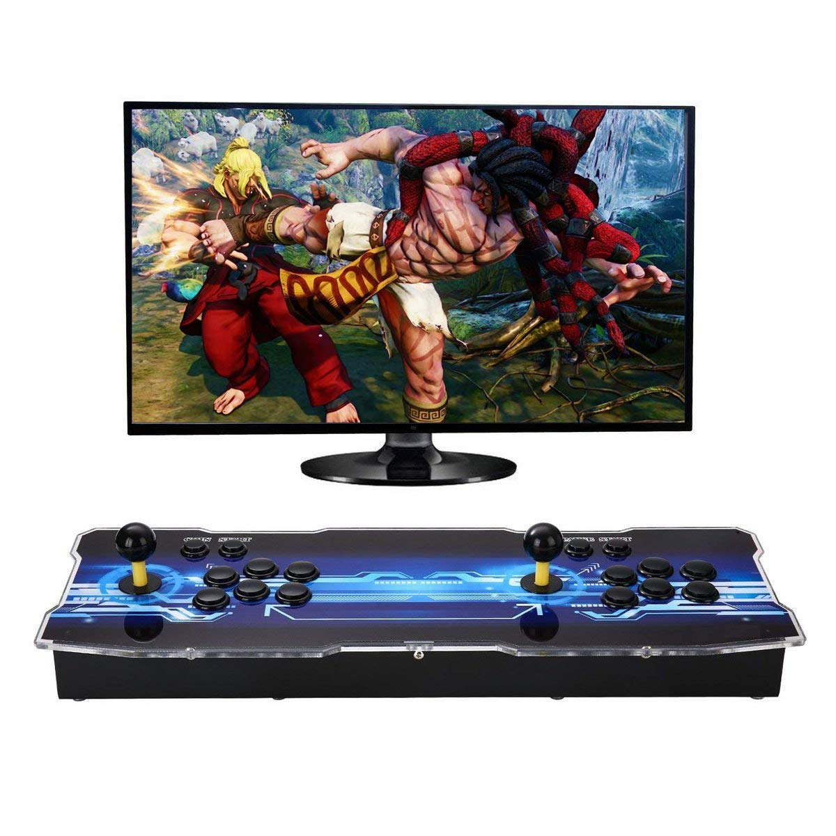 SeeKool Newest 3D Pandora X Arcade Game Console, 1920x1080 Full HD 4 Players Max Arcade Machine with 2200 Games, Support Extended TF Card& USB Disk to Enjoy More Games PC / Laptop / TV / PS3 by SeeKool (Image #8)