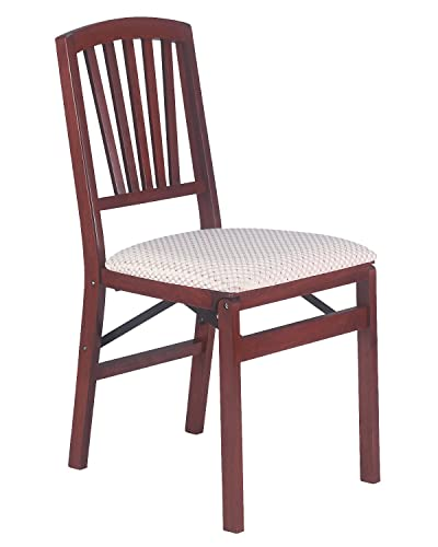 Stakmore Slat Back Folding Chair Finish, Set of 2, Cherry