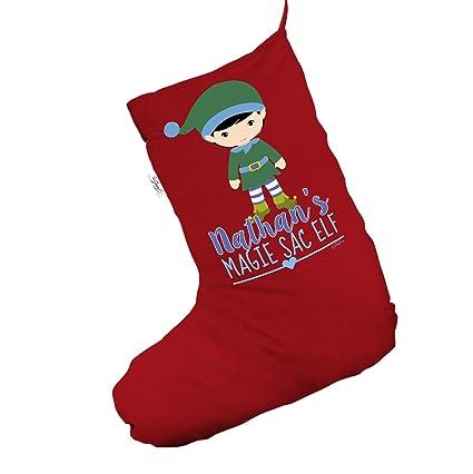 """Personalizado My Sac elfo grande rojo """"Navidad medias calcetines"""