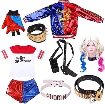 Nuevo Harley Quinn Cosplay Disfraces Mujeres adultas Hombres ...