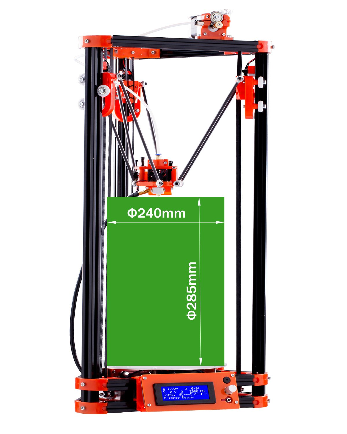 Amazon.com: FLSUN Delta 3D Printer Kossel DIY Updated Pulley ...
