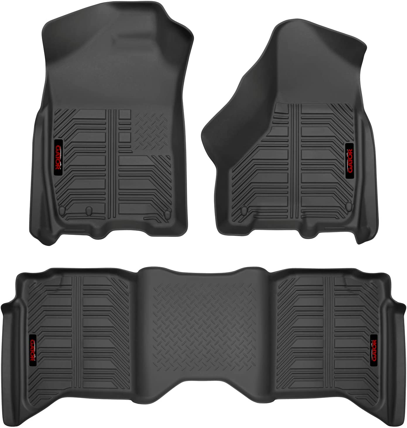 Gator Accessories 79606 Black Front and 2nd Seat Floor Liners Fits 14-19 toyota Tundra Double Cab Combo Set