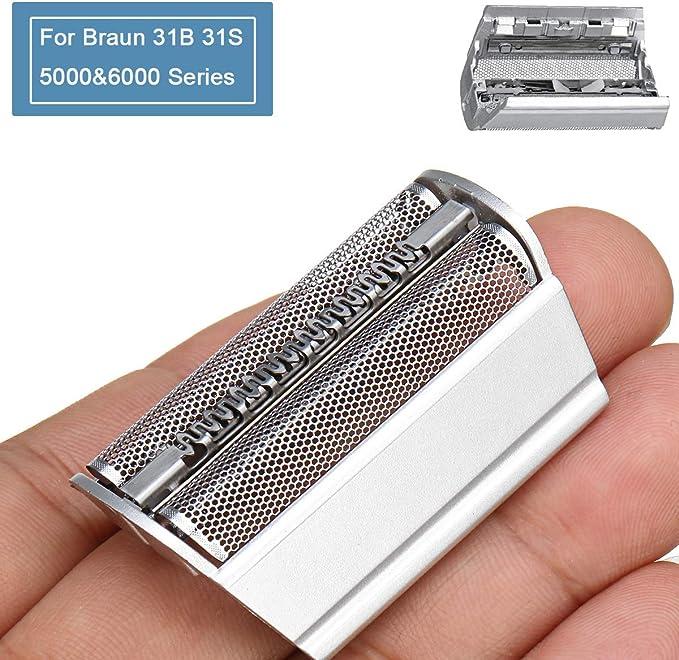 31S Cabezales de Afeitar para Braun Serie 3 Afeitadora Eléctrica Hombre, Lámina de Afeitar de Repuesto para Braun ...