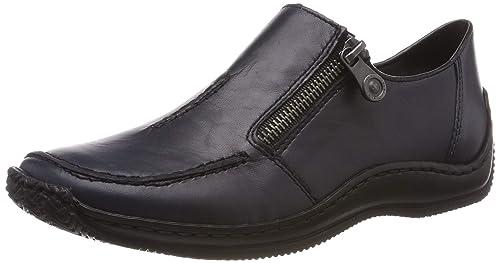 Rieker Damen L1780 16 Obermaterial Leder Slipper Schuhe