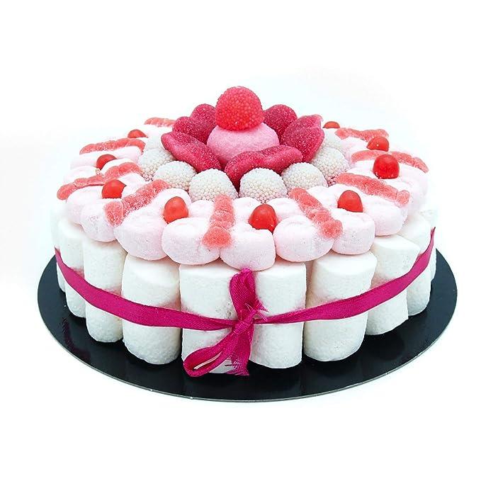 Tarta Golosinas - Pink 22 cm: Amazon.es: Alimentación y bebidas