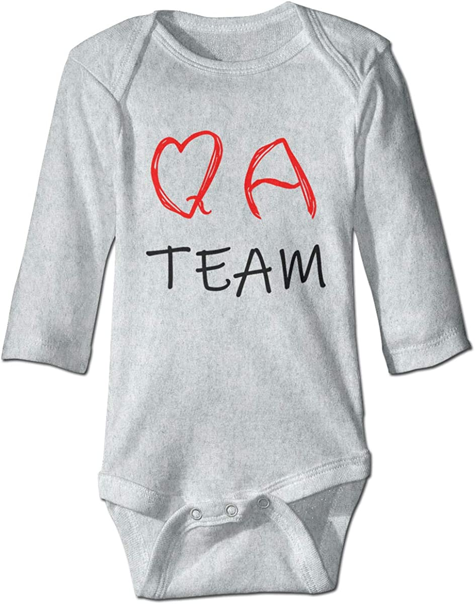 Marsherun Babys Boys and Girls QA Team Long-Sleeve Bodysuit Clothes Playsuit