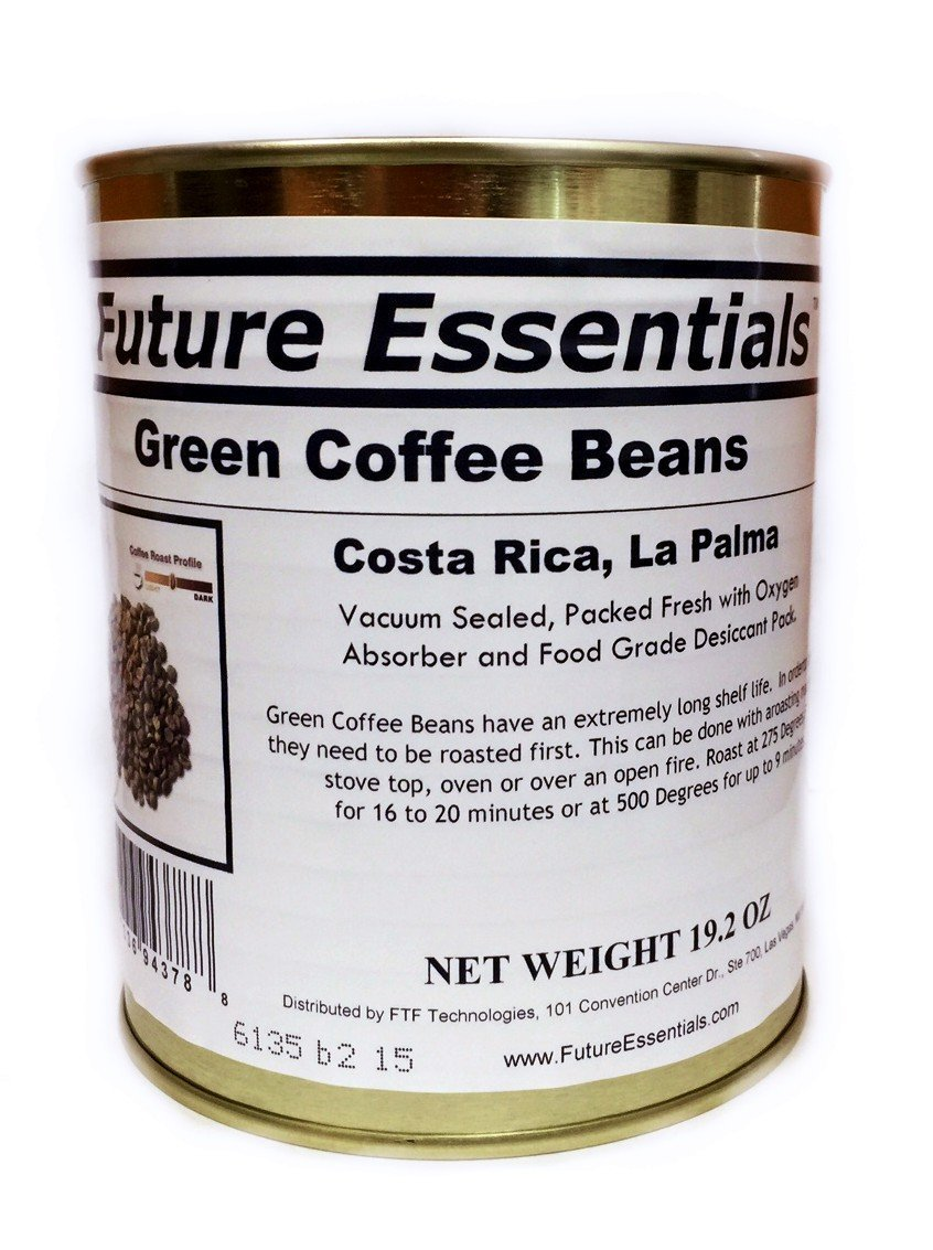 Single Can of Green Coffee Beans, Costa Rican La Palma