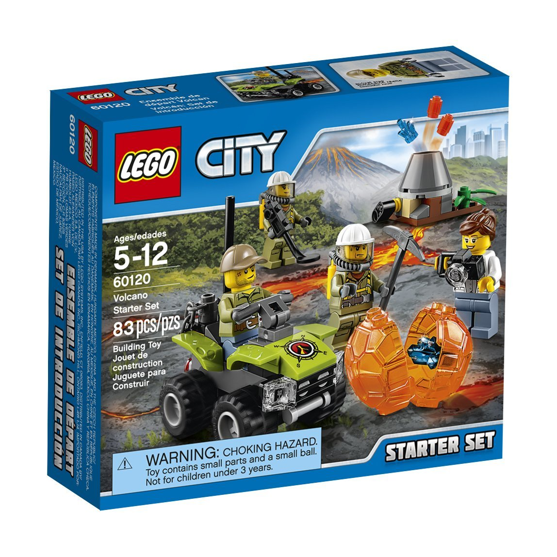 LEGO City Volcano Explorers 60120 Volcano Starter Set Building Kit (83 Piece)